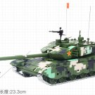 99A Main Battle Tank Chinese ZTZ-99 Military Vehicles 1/50 Diecast Model Gift