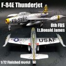 F-84E Thunderjet 8th FBS Donald James aircraft 1/72 plane finished Easy model