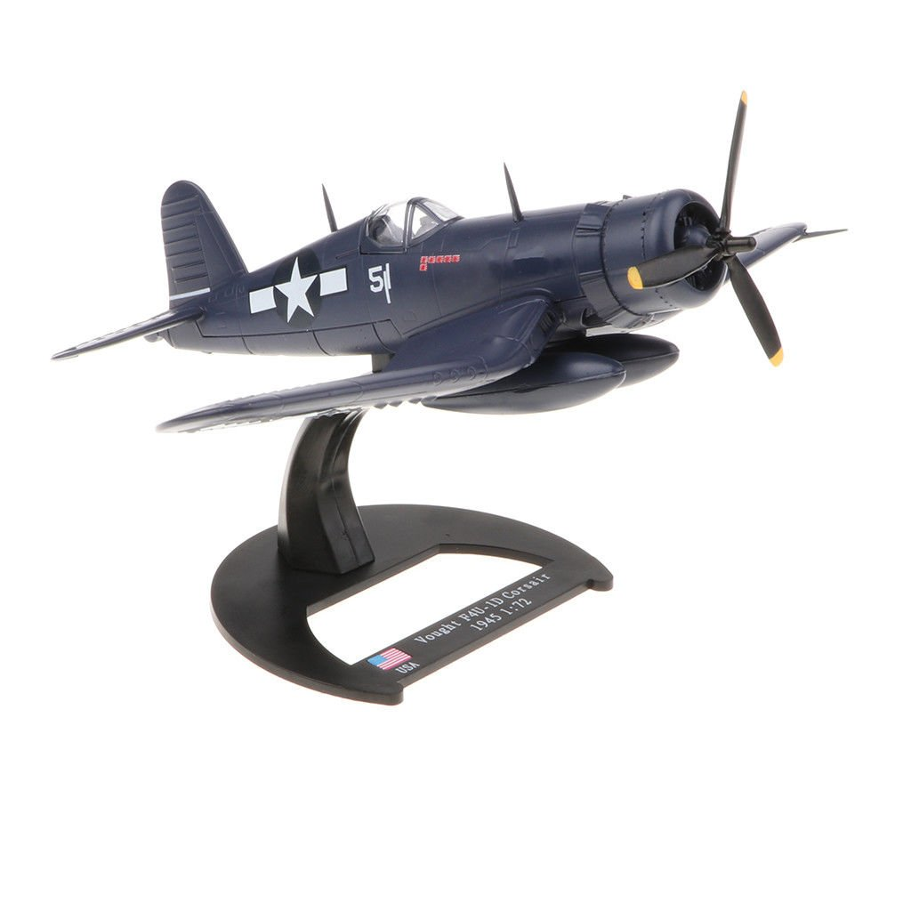 USA Vought F4U Corsair (1945) 1/72 Scale Diecast Fighter Model with Base