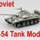 Easy Model 1/72 Soviet Army T-54 USSR T54 In Winter Camouflage Tank Model #35020