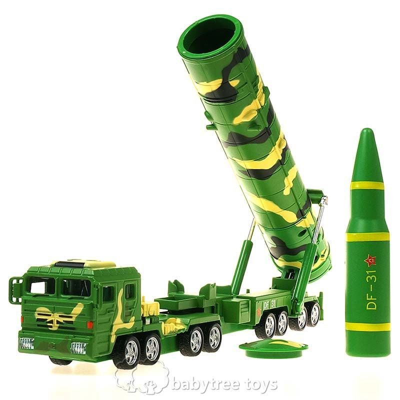 KDW 1/64 Scale Diecast DF-31A Ballistic Missile Launchers Model with Sound&Light