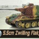 1:72 Dragon WWII War Figure Zwilling Flakpanzer Western Front Armor Tank Model