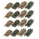 16 pezzi Classic Heavy 4D Tank Plastic Modello 1: 144 Scale 360