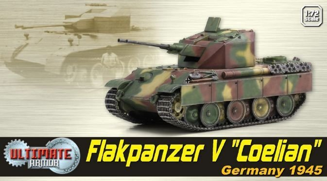 "Dragon 60525 1/72 WWII Armor Flakpanzer V """"Coelian"""" Germany 1945 Tank Model Toys"
