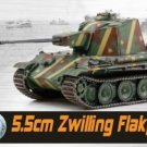 Dragon 1:72 Scale WWII Zwilling Flakpanzer, Germany 1945 Diecast Tank Collection