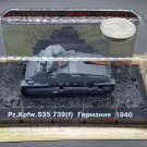 1:72 Scale Pz.Kpfw.S35 739(f) 1940 WWII Tank Diecast Military Armor Model