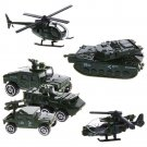Military Vehicle Set 6 pcs Toy War Army Car Model Diecast Collection Kid 1:87