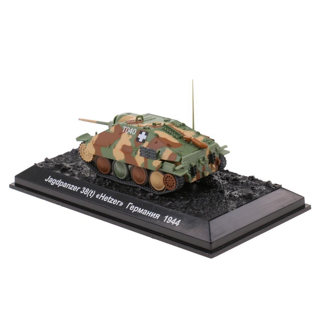 1/72th Jagdpanzer 38(t) Hetzer Tank WWII German Military Vehicle Model Toy
