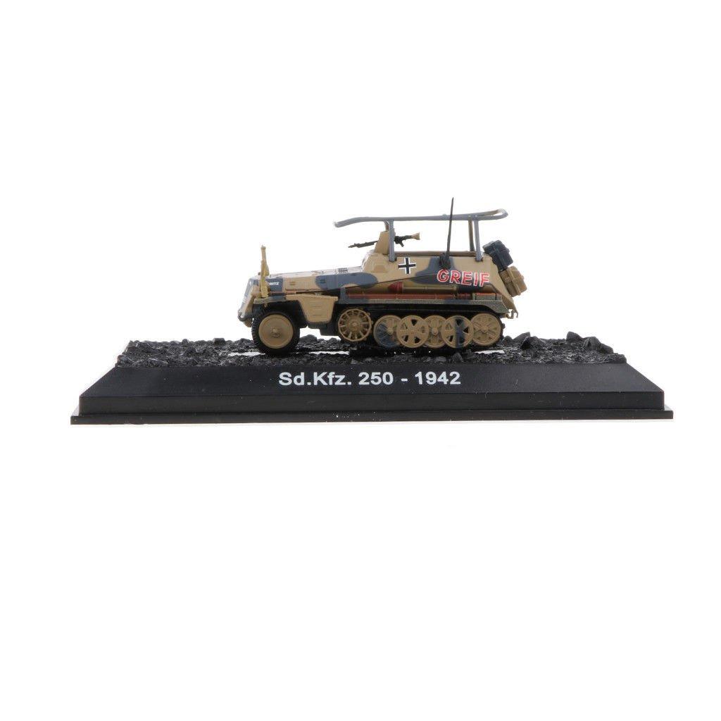 1/72th WWII German Military Diecast Sd.kfz.250-194<wbr/>2 Half-track Tank Model