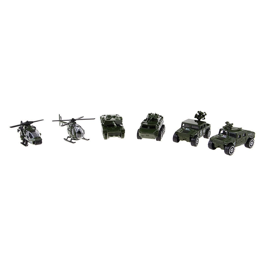 1/87 Scale Alloy Military Vehicle Model Tank panzer Helicopter Car Kids Toys