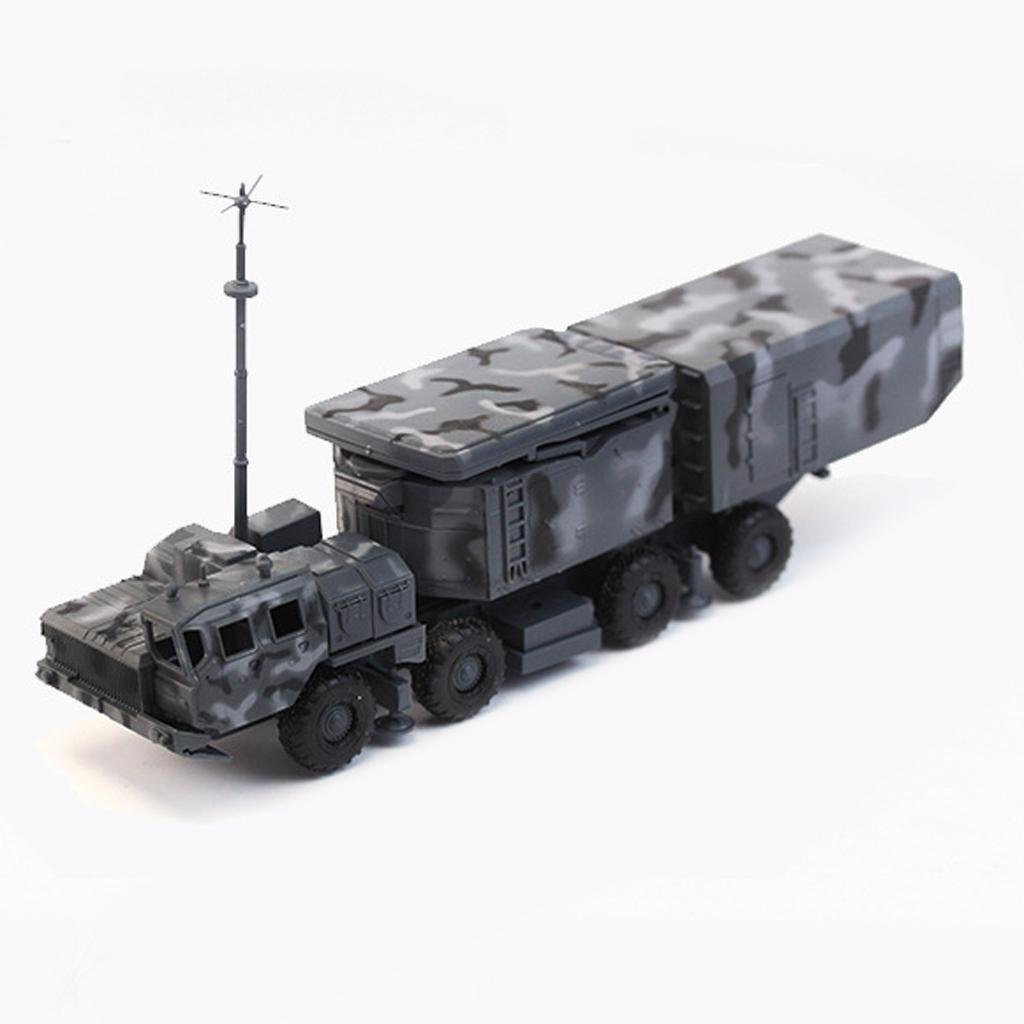 1/72 Plastic Model Truck Vehicles Kids Toys Collection Blue Radar