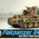 1:72 Dragon 60644 Flakpanzer 341 mit 2cm Flakvierling Germany 1945 Model Tank