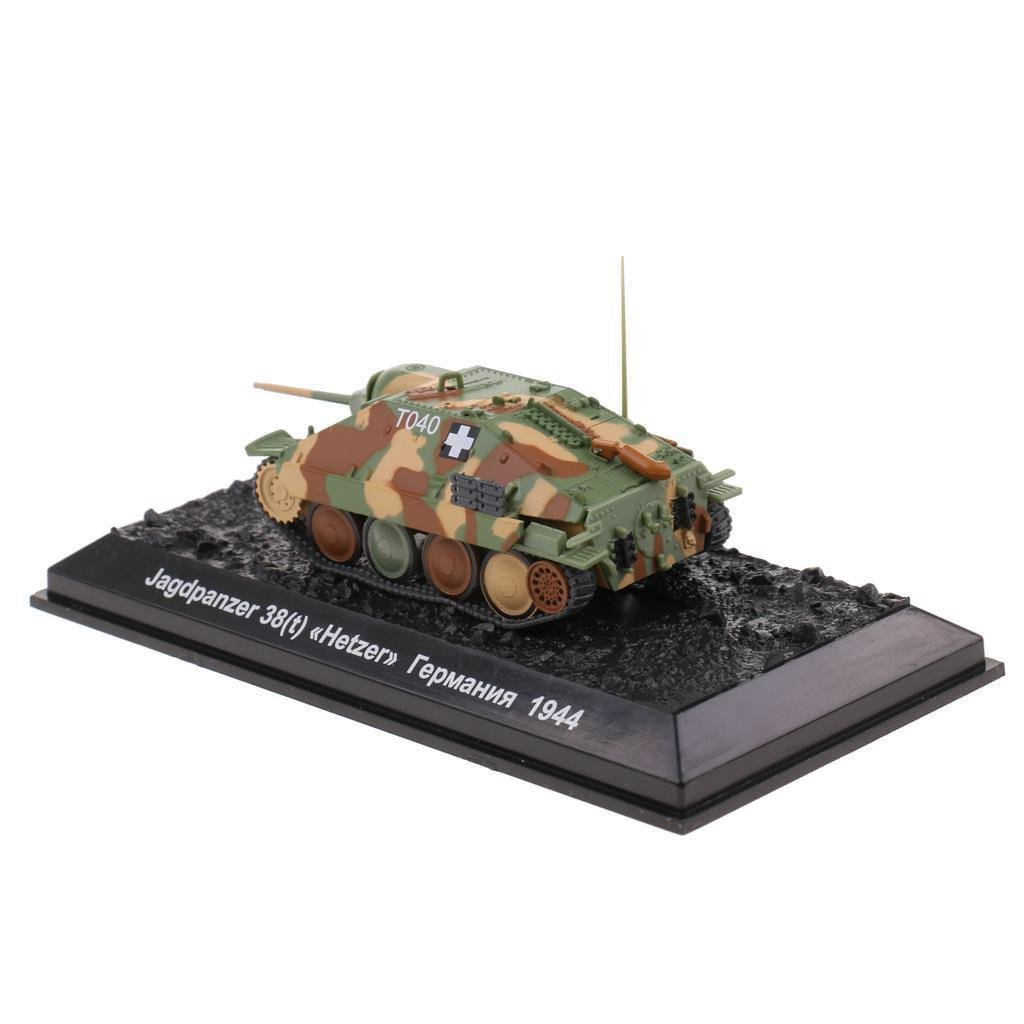 Army 1:72 WWII Jagdpanzer 38(t) Hetzer German Diecast Tank Showcase Display
