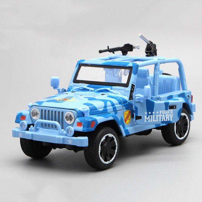 1:32 Jeep Off-road Military Force Metal Diecast Vehicle Car Model Toy Kids Gift