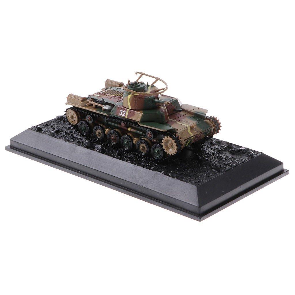 1/72 Japanese Medium Tank Type 97 Chi-ha 1941 Diecast WWII Vehicle Model Toy
