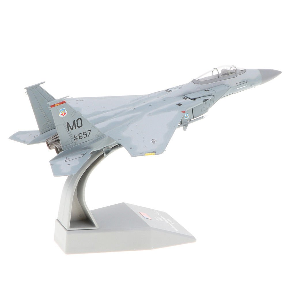 Aeromobile Bombardiere Getta Modello F-15 Scala 1/100 Diecast per Bambini