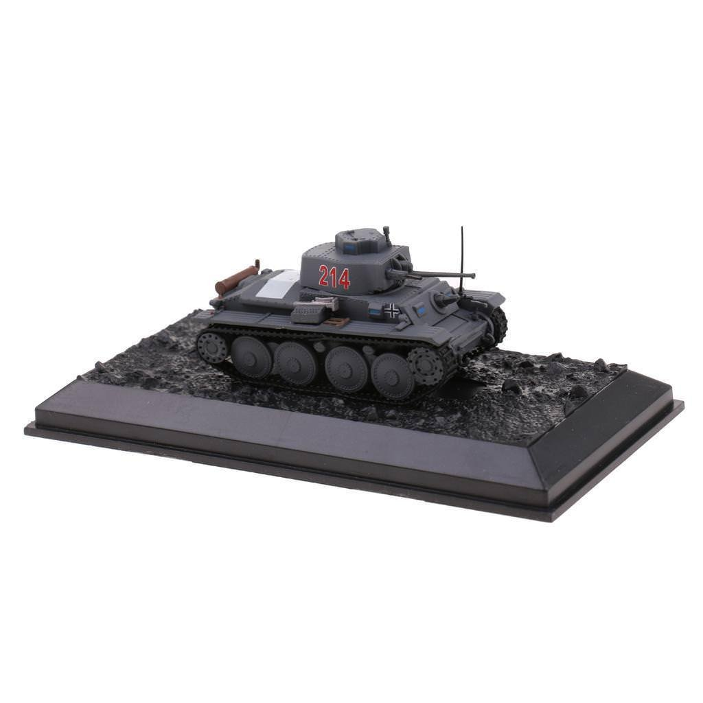 1:72 Scale WWII France PzKpfw 38(t) Ausf.F-1941 Army Tank Diecast Model Toy