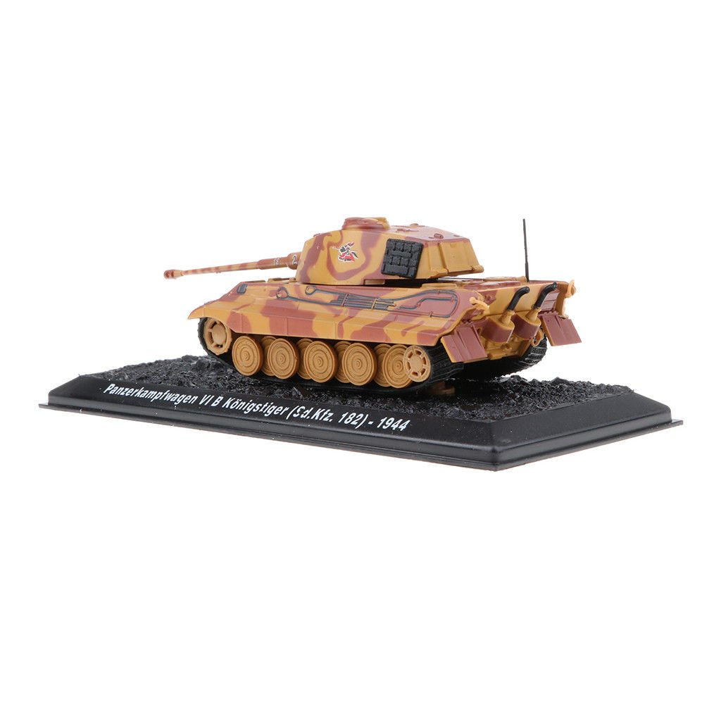 Military Vehicles PzKpfw VI B Kingtiger-1944 Army Tank Diecast Model 1:72