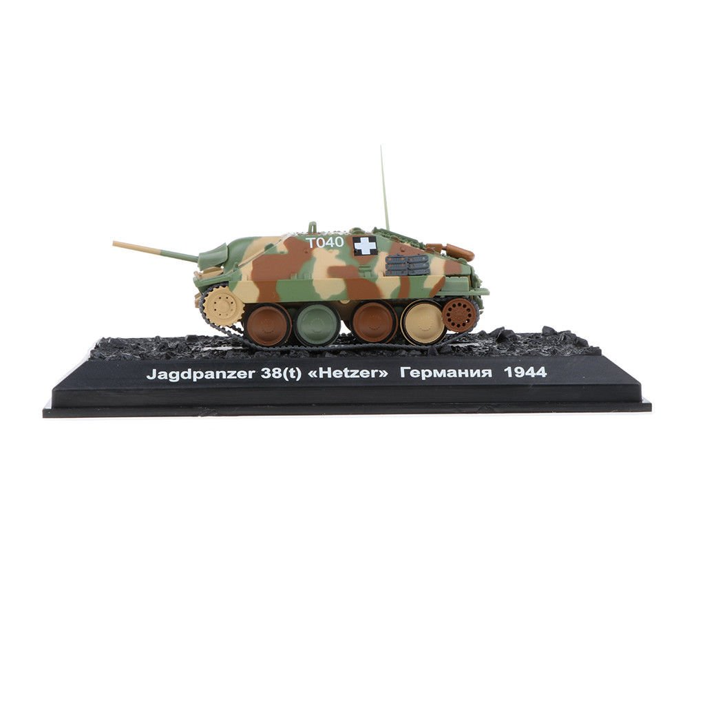 Military Vehicles Jagdpanzer 38(t) Hetzer-1944 Army Tank Diecast Model 1:72