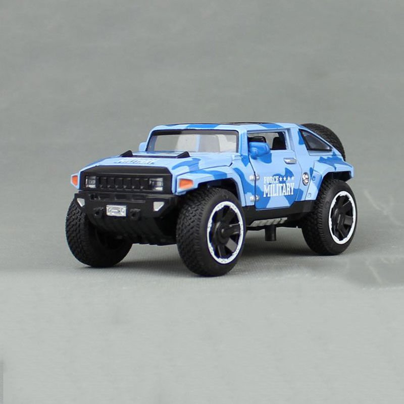 1:32 Hummer HX Military Force Car Model Metal Diecast Toy Vehicle Blue Gift Kids
