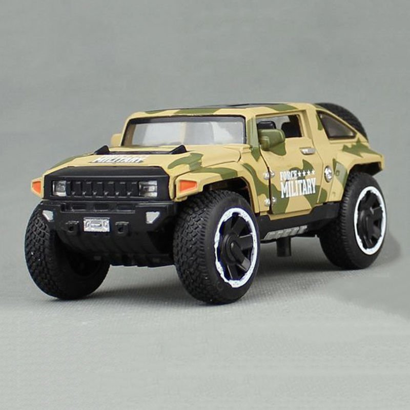 1:32 Hummer HX Military Force Car Model Toy Vehicle Alloy Diecast Yellow Gift