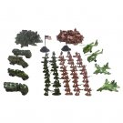 Plastic 210 Pcs Army Combat Toy Model Action Figure Soldiers with Aircrafts