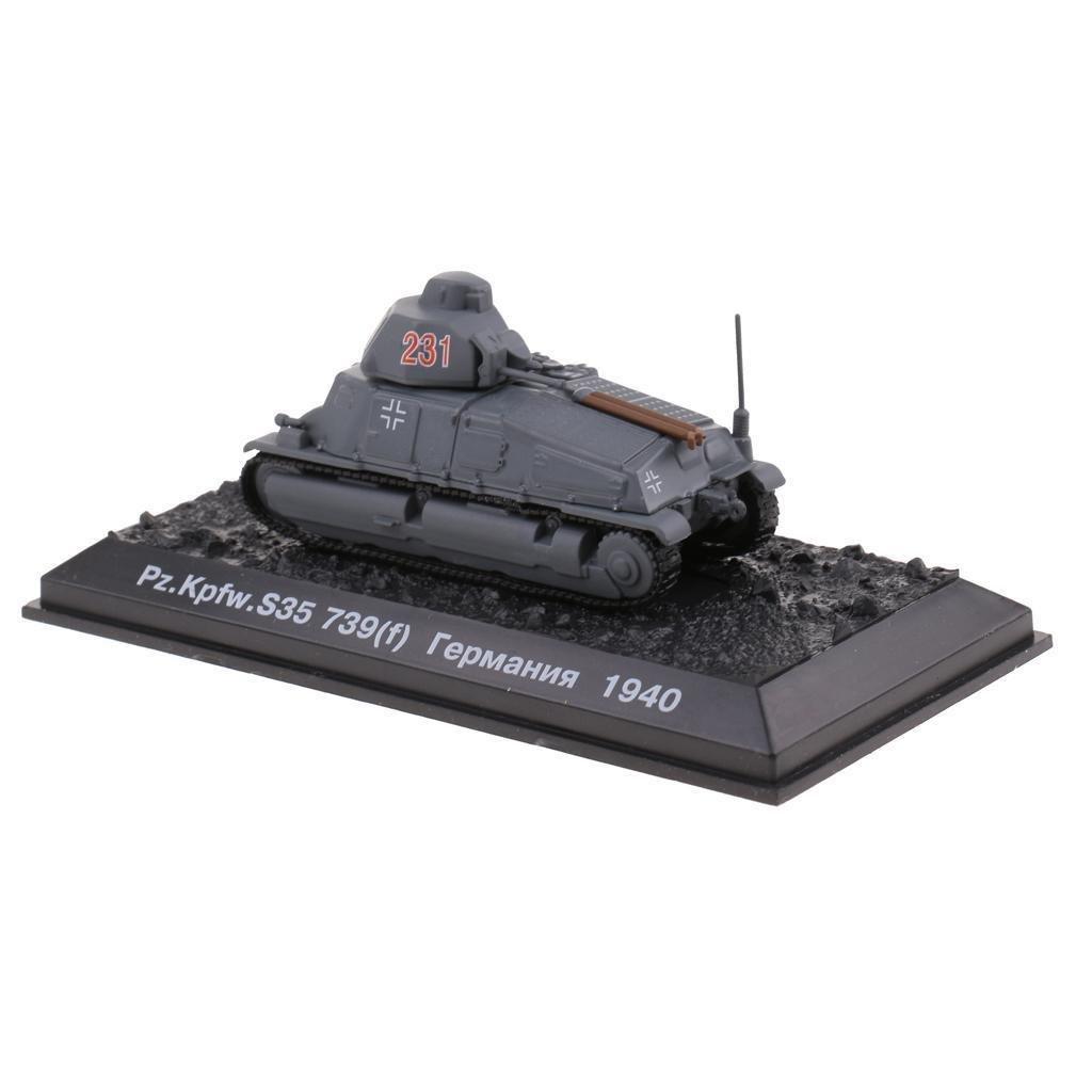 1:72 Scale WWII France Pz.Kpfw S35 739(f) 1940 Army Tank Diecast Model Toy