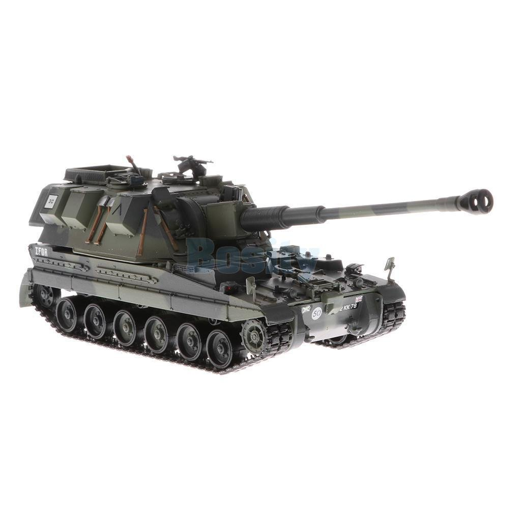 British AS90 Battle Tank SPG Heavy Panzer (1/72 Scale) Military Vehicle