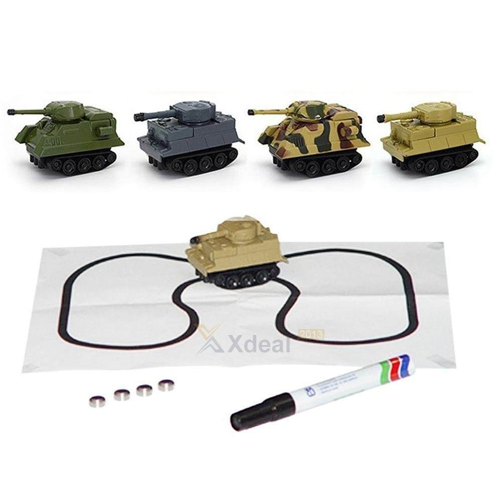 Magic Inductive Tank Toy Automatic Novelty Follow-Line You Draw Car Xmas Gifts