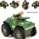 New Electric Rapid Roll Turn Flash Tanks Military Model Children Toys
