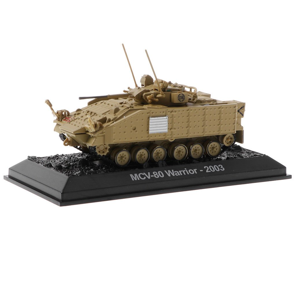 1/72 MCV-80 Warrior UK 2003 Tank Military Army Armored Car Toy Collectibles