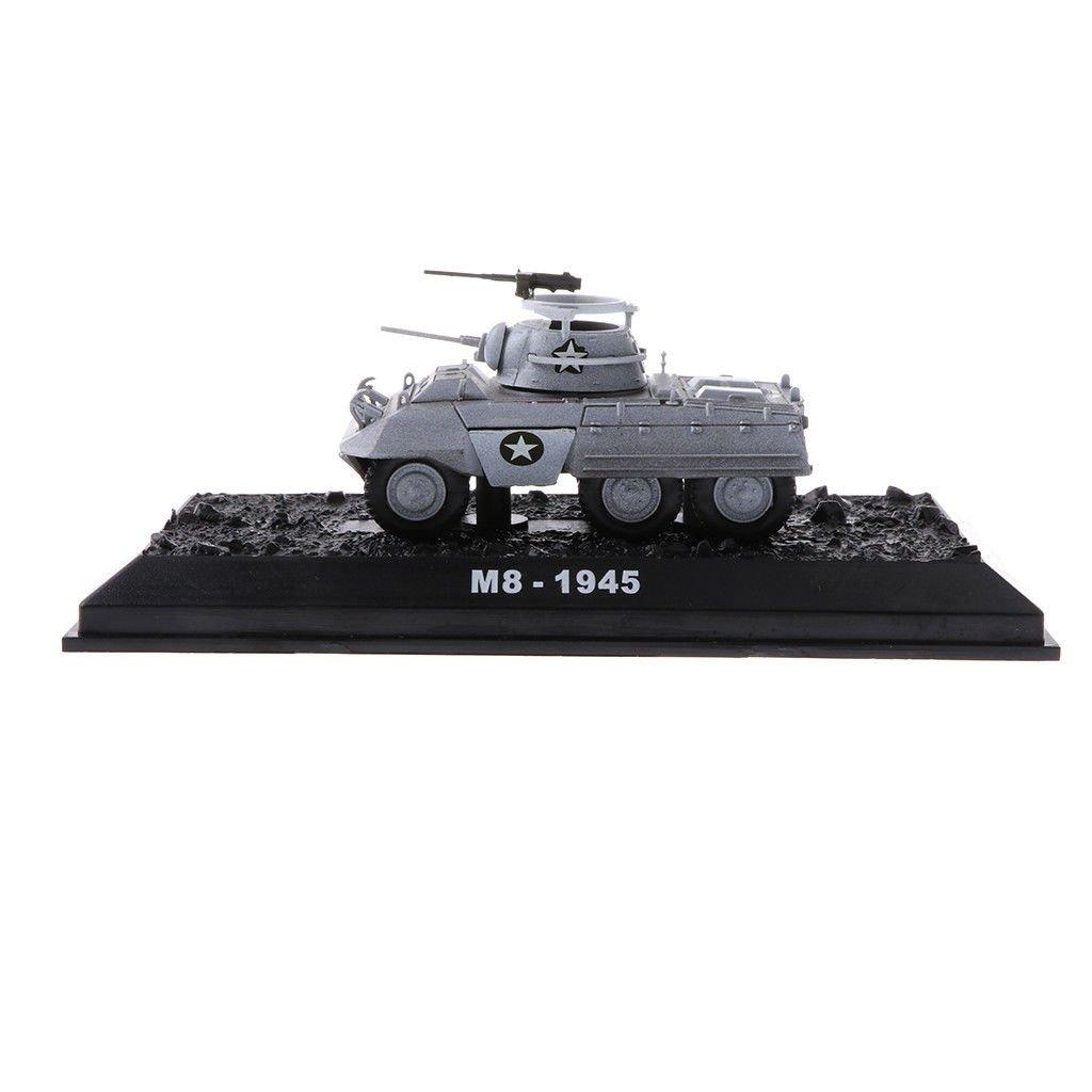 1/72 US Army Amer M8 1945 Greyhound Tank Armor Military Vehicle Model Toys