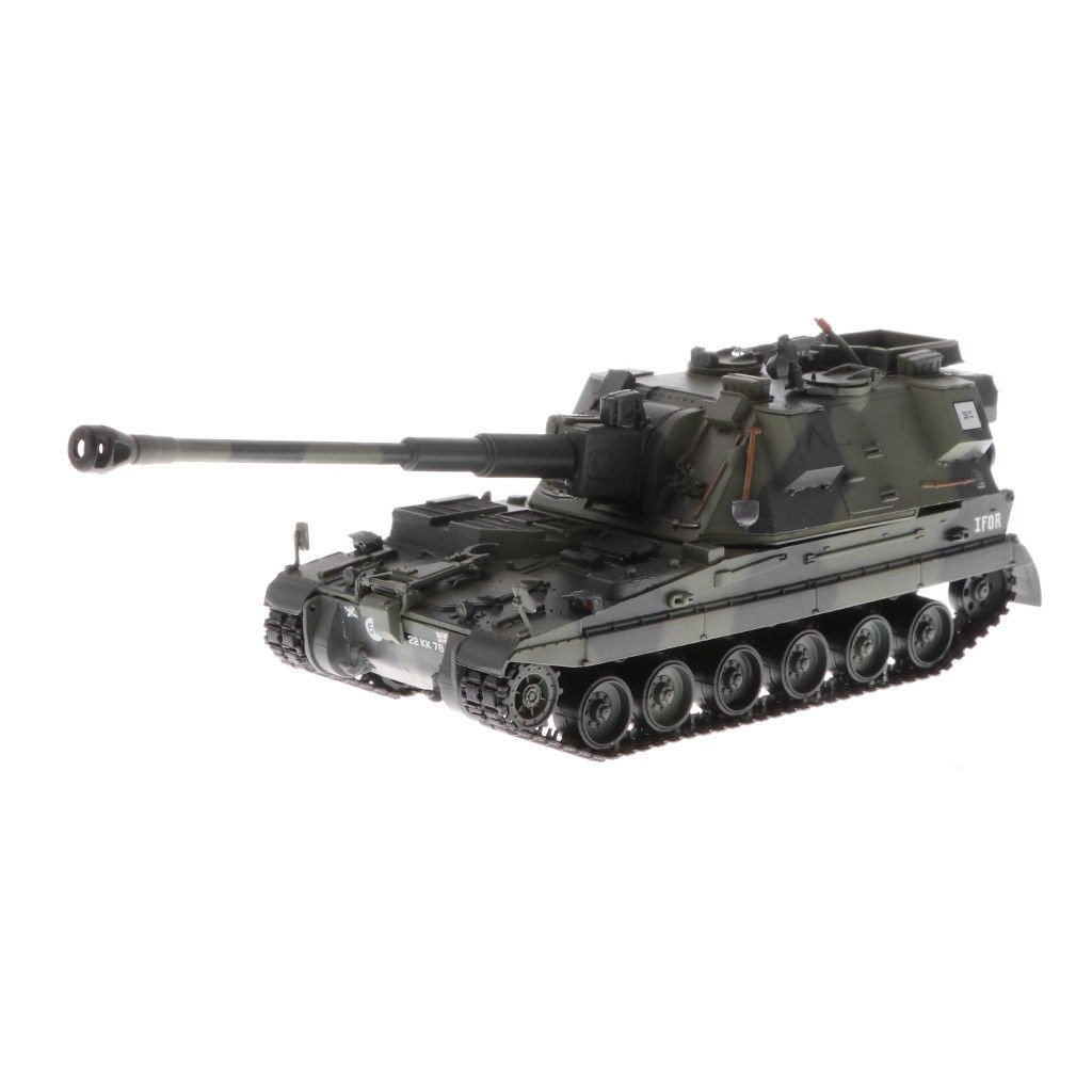 1:72 Plastic British AS90 Battle Tank Military Vehicle for Plastic Army Men