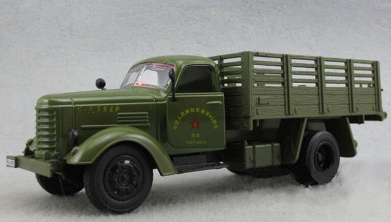1/32th Jiefang Army Green Military Diecast Truck Model Gift Toy W/Light Sound
