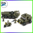 455pcs Army armored vehicles Jeep Motorcycles 3D Construction Plastic Model Buil