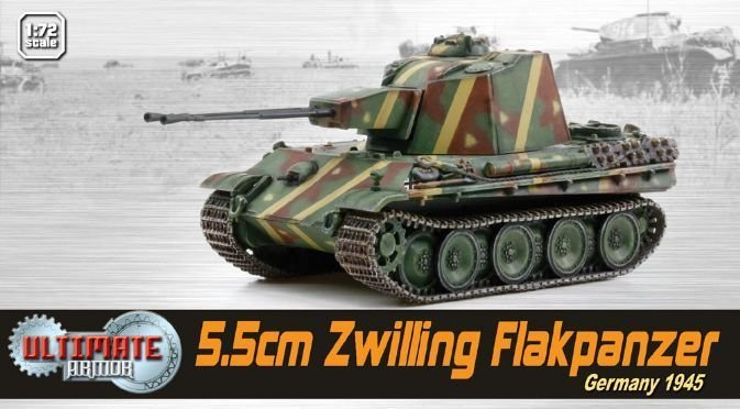 1:72 Dragon WWII Zwilling Flakpanzer, Germany 1945 Tank Models Collection Gifts