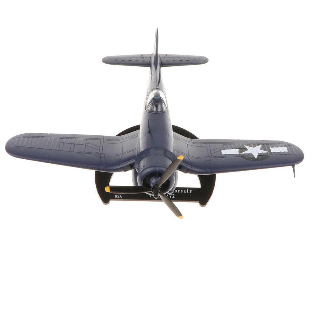 USA Vought F4U Corsair 1:72 Scale WWII Military Fighter Model with Base