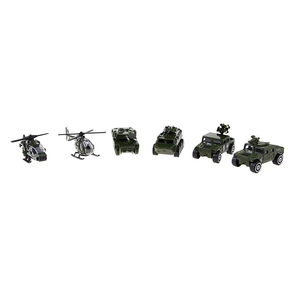 Military Vehicles Model Cars Tank Attack Helicopter Panzer Kids Pocket Toy