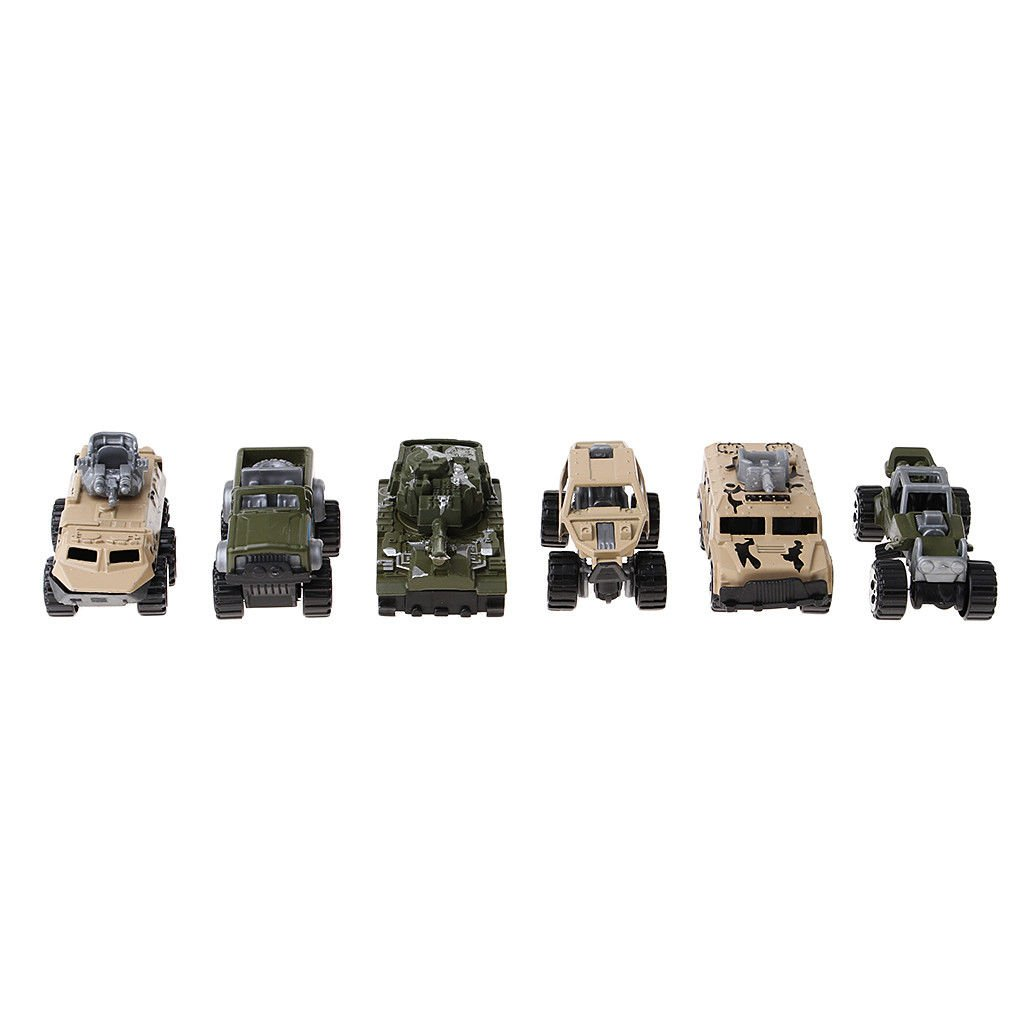 Alloy Military Tank Mini Fire Engines Car Missile Car Model Set Kids Toy