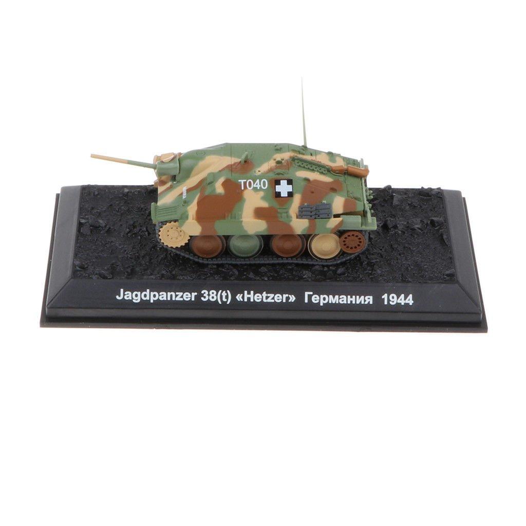 Army Model 1:72 WWII Jagdpanzer 38(t) Hetzer-1944 Tank Toy Showcase Display