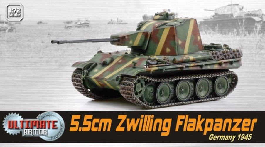 Dragon Models 1:72 Armor 60593 MAN 5.5cm Zwilling Flakpanzer WWII Germany Tank