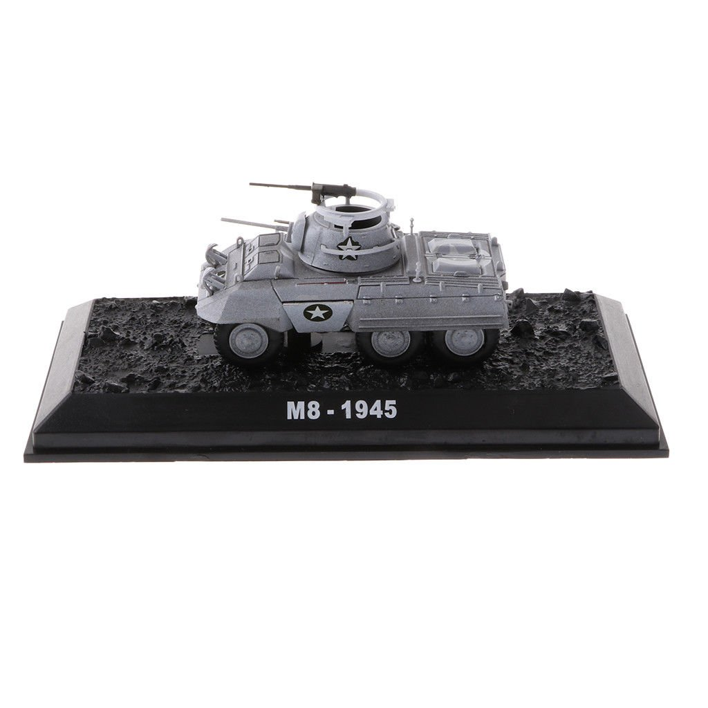 1/72 Diecast M8 1945 Greyhound Tank Model US Army Military Armored Tank Toys