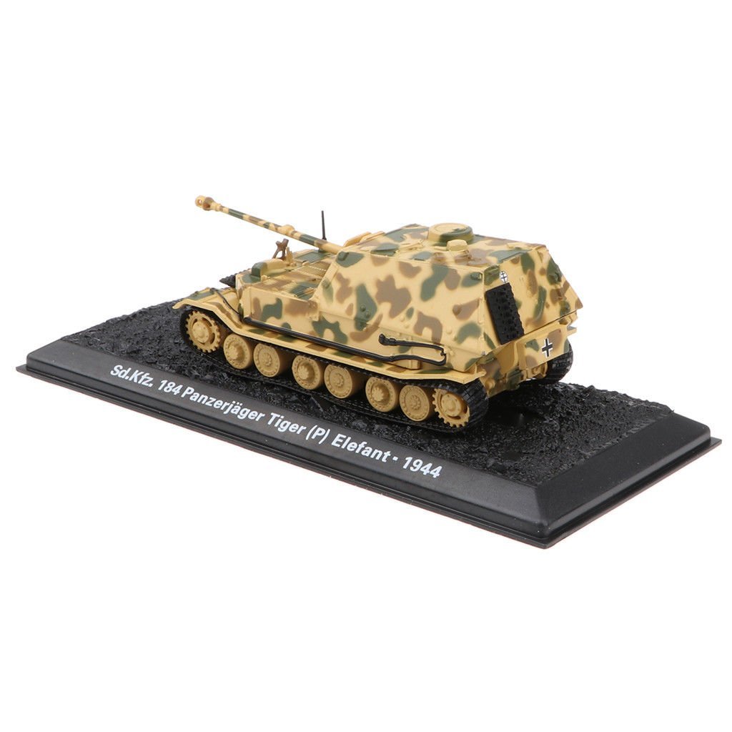 MagiDeal 1:72 WWII Military Tank Elefant(Sd.Kfz<wbr/>.184)-1944 with Base Orname