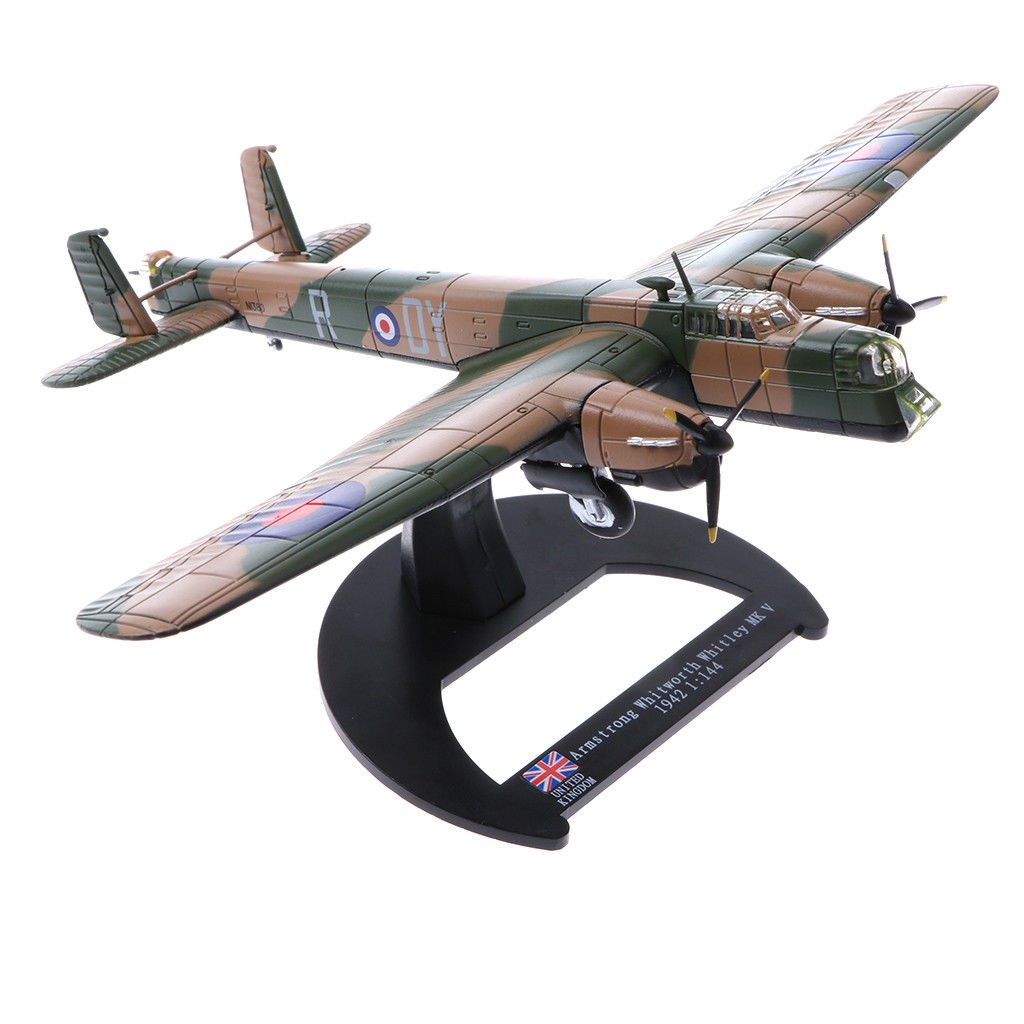 1/144th Army Armstrong Whitworth Whitley MK V Model Toy Gifts Desk Supplies