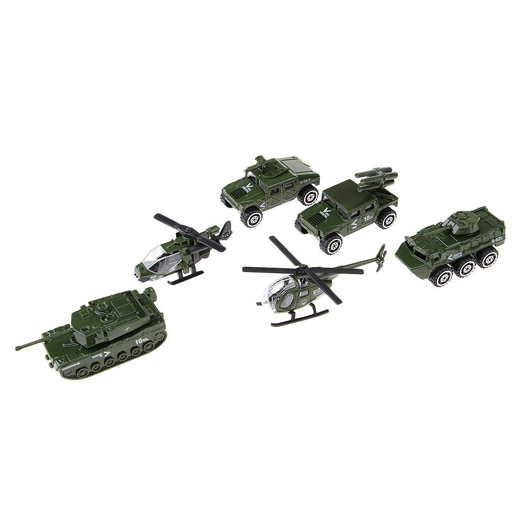 Collectible Home Decor Military Car Tank Panzer Helicopter for Children Gift