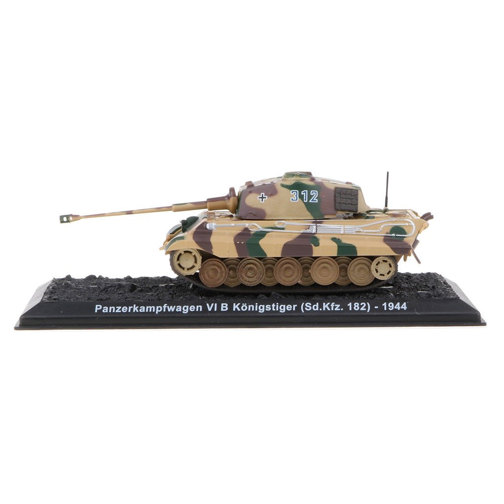 MagiDeal 1:72 Scale Alloy German Tiger Panzer Tank Mini Army Vehicle Model