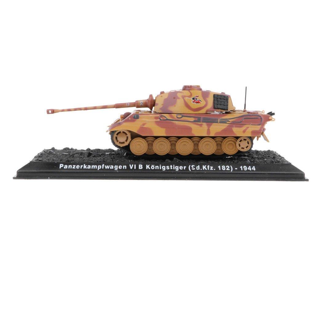 MagiDeal 1:72 Military PzKpfw VI B Kingtiger-1944 WWII German Tank Model Toy