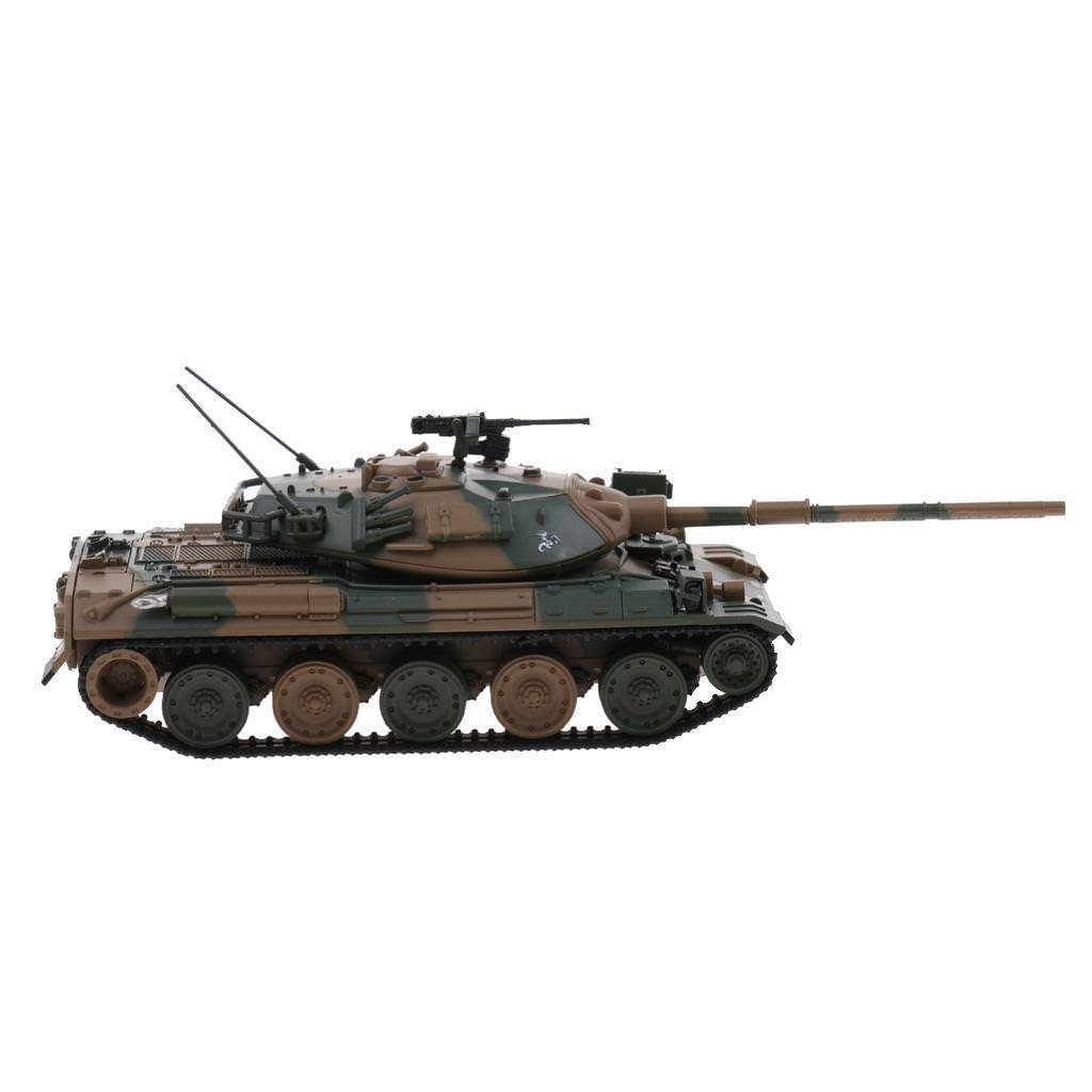 1/72th Military Japanese JSDA Type 74 Tank Diecast Model Playset Collection