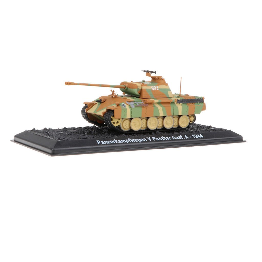 MagiDeal 1:144 Military PzKpfw V Panther Ausf.A-1944 German Tank Model Toys