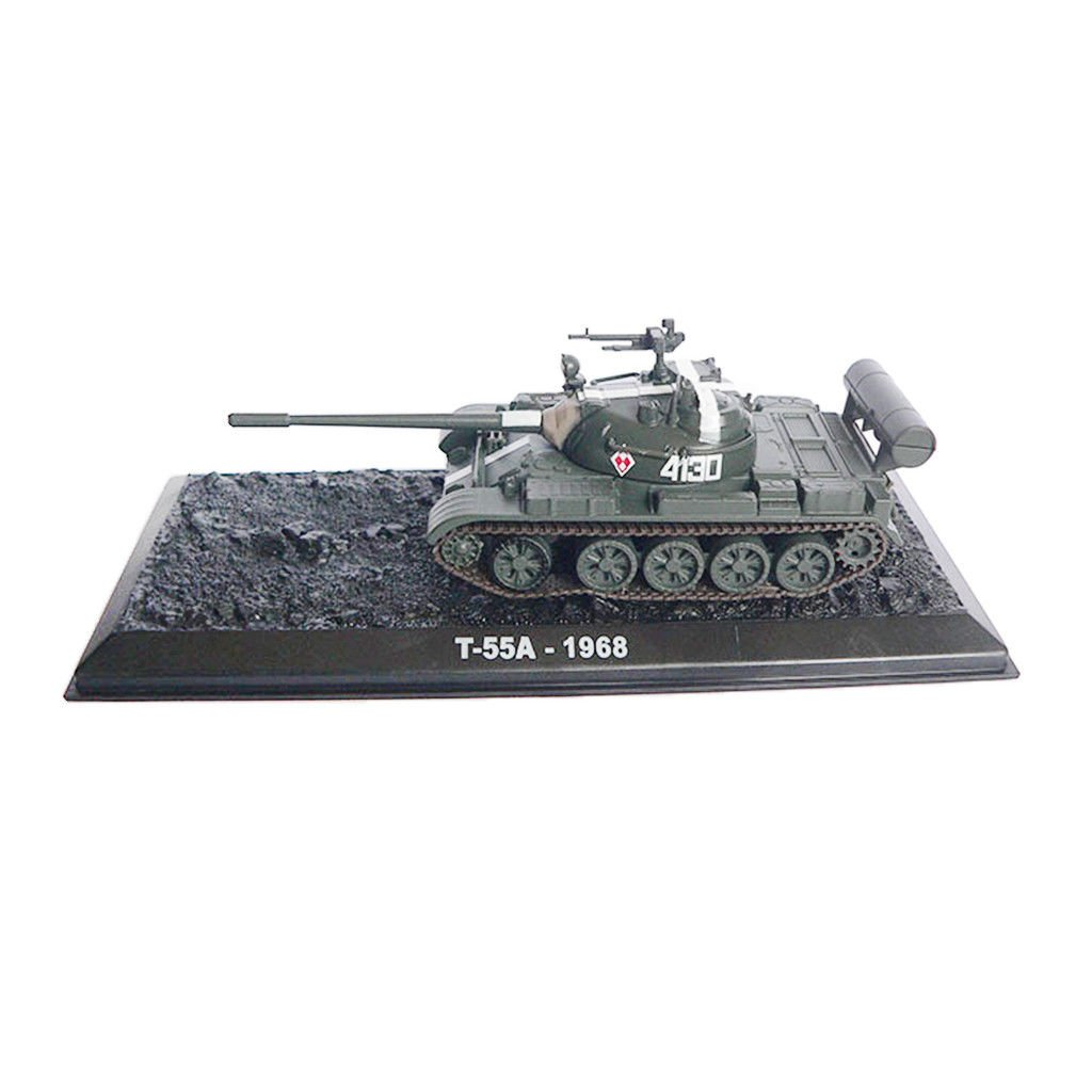 MagiDeal 1:72 Scale Russian T-55A Tank Model Presents Collectibles